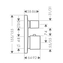 Grifo termostático de 2 funciones PuraVida cromo Hansgrohe
