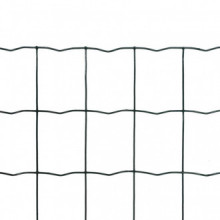 Set de euro valla acero verde 10x0,8m Vida XL