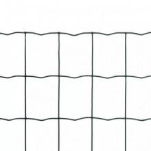 Set de euro valla acero verde 10x1,2m Vida XL