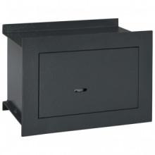 Caja fuerte para pared gris oscuro 26x16x18cm...