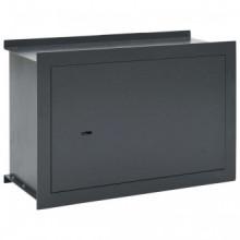 Caja fuerte para pared gris oscuro 49x19,5x32cm...