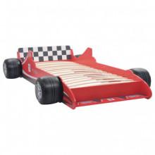 Cama con forma de coche de carreras para niños...