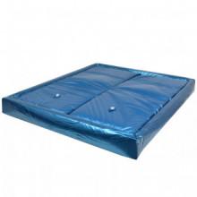 Colchón de cama de agua con forro y divisor...