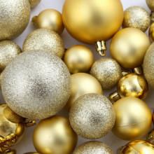Lote de bolas de Navidad 100 unidades doradas...