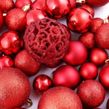 Lote de bolas de Navidad 100 unidades 6cm rojas...