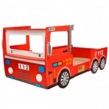 Cama para niños camión de bomberos 200x90cm...