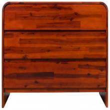 Mueble de cajonesmadera acaciamaciza 90x37x75cm...