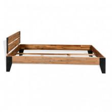 Estructura de cama de madera maciza de acacia y...