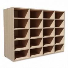 Zapatero de madera aglomerada 92x33x67,5cm...