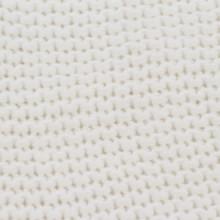 Manta tejida de algodón 130x171cm blanco Vida XL