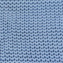 Manta tejida de algodón 130x171cm azul Vida XL