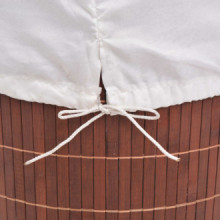 Cesto de la ropa de bambú redondomarrón Vida XL