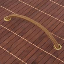 Cesto de la ropa de bambú ovaladomarrón Vida XL