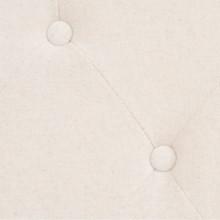 Sofá de 2 plazas de tela color blanco crema...