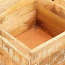 Banco de almacenamiento de madera reciclada...