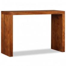 Mesa consola de madera maciza acabado de...