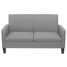 Sofá de 2 plazas 135x65x76cm gris claro Vida XL
