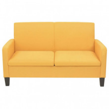 Sofá de 2 plazas 135x65x76cm amarillo Vida XL