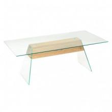Mesa de centro demDF y vidrio color roble...
