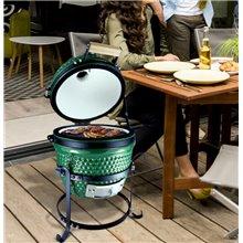 Barbacoa para camping verde de carbón Outsunny