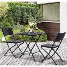 Conjunto de sillas y mesa de 3 piezas Outsunny