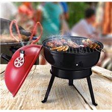 Barbacoa para camping rojo de carbón Outsunny