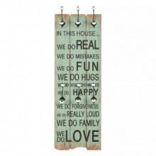 Perchero de pared HAPPY LOVE con 6 ganchos...