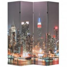 Biombo divisor plegable 160x170cm Nueva York de noche Vida XL