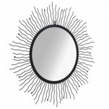 Espejo de pared con forma de sol radiante 80cm...