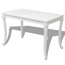Mesa de comedor 116x66x76cm blanco brillante...
