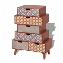 Mueble auxiliar con 6 cajonesarrón Vida XL