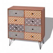 Mueble auxiliar con 8 cajonesarrón Vida XL