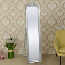 Espejo de pie estilo barroco plateado 160x40cm...