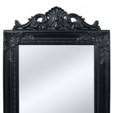 Espejo de pie estilo barroco 160x40cm negro...