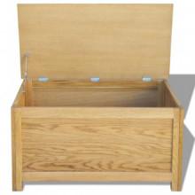 Caja de almacenamiento de madera maciza de...