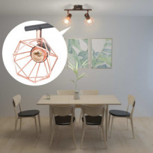 Lámpara de techo con 2 bombillas de filamento...