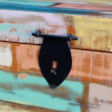 Baúl de almacenamiento de madera maciza...