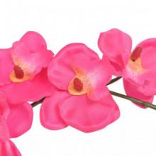 Planta artificial orquídea conacetero 30cm roja...