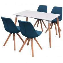 Conjunto deesa de comedor y sillas 5 piezas...