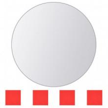 Azulejos de espejo redondos vidrio 8 unidades...