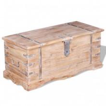 Baúl de almacenamiento de madera de acacia Vida XL