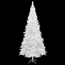 Árbol de Navidad artificial L 240cm blanco Vida XL