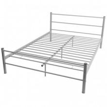 Estructura de cama deetal gris 140x200cm Vida XL