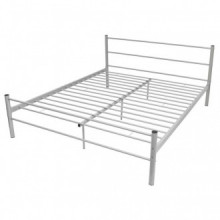 Estructura de cama deetal gris 160x200cm Vida XL