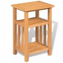 Mesa auxiliar con estante de madera de...