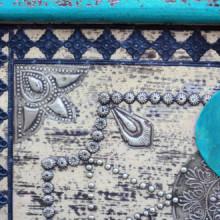 Baúl de almacenamientoadera deango azul...