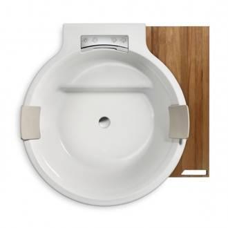 Bañera ROCA Circular con tarima