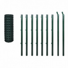 Set de euro valla acero verde 10x0,8 Vida XL