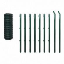 Set de euro valla acero verde 10x1 Vida XL