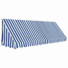 Toldo para bar 350x120cm azul y blanco Vida XL